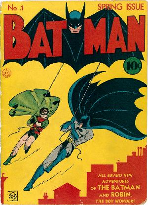 Cover of Batman #1 (Spring, 1940). Art by Bob Kane.
